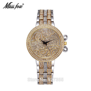 New Style Top Luxury Watches High Quality Women Full Rhinestone Crystal Quartz Watches Lady Swan Dress Wristwatches Hot Sales - rongcp