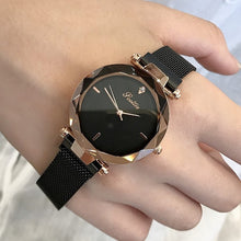 2018 Luxury Brand lady Crystal Watch Magnet buckle Women Dress Watch Fashion Quartz Watch Female Stainless Steel Wristwatches - rongcp