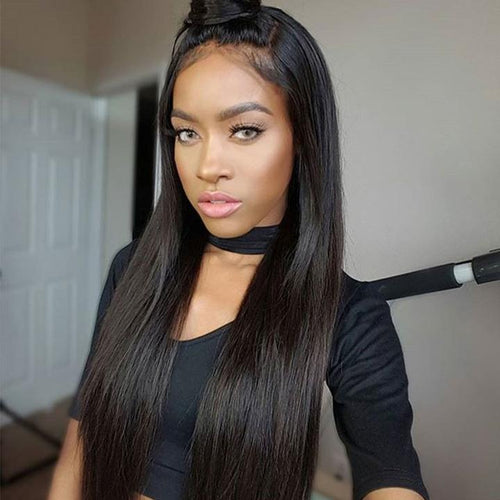 100% Brazilian Virgin Human Hair Wig Super Natural Silk - rongcp