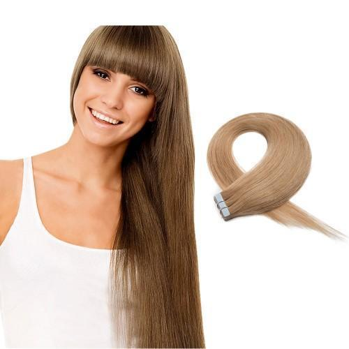 20pcs 50g Straight Tape In Hair Extensions #27 Strawberry Blonde - rongcp