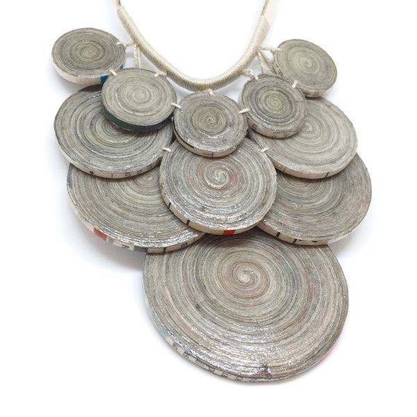 Rebecca - Necklace by Lumago (Grey)
