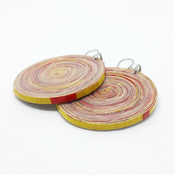 Sean Small - Earrings by Lumago (Red & Yellow)