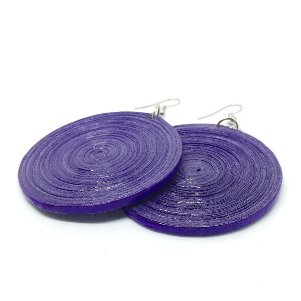 Sean Large - Earrings by Lumago (Purple)