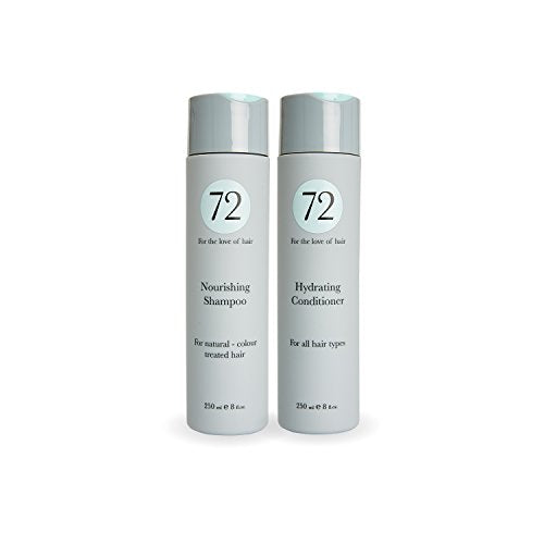 72 Hair Daily Nourishing Duo 500 ml - Shampoo and Conditioner Set