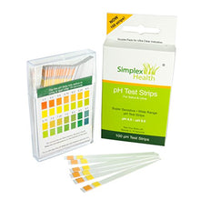 Load image into Gallery viewer, Simplex Health pH Test Strips for Urine and Saliva (100 strips)
