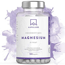 Load image into Gallery viewer, Magnesium Citrate Supplement [ 400 mg ] 180 Caps By Aava Labs – Pure & Non-Buffered - For Healthy Bones & Muscle Function – Nordic Quality - 100% Vegan and Non-GMO.