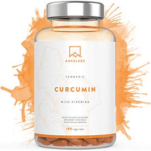 Load image into Gallery viewer, Turmeric Curcumin Supplement [ 4230 mg ] - With 95% Curcumin Extract & Piperine per Daily Dose - 180 Capsules - A Strong Antioxidant for Joint, Immune System and Heart Function Support - Nordic Purity: No Magnesium Stearate, Preservatives or Fillers - Non