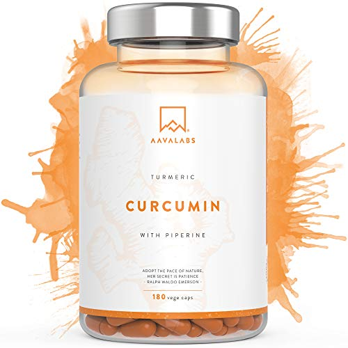 Turmeric Curcumin Supplement [ 4230 mg ] - With 95% Curcumin Extract & Piperine per Daily Dose - 180 Capsules - A Strong Antioxidant for Joint, Immune System and Heart Function Support - Nordic Purity: No Magnesium Stearate, Preservatives or Fillers - Non