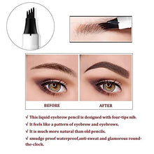 Load image into Gallery viewer, Tattoo Eyebrow Pen with 3 Colors Long-lasting Waterproof Brow Gel and Tint Dye Cream for Eyes Makeup (2#Brown)