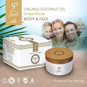 Organic Coconut Oil Enriched with Beeswax, Olive Oil, Argan & Jojoba | Natural Moisturiser l Complete Skincare For Body, Hair & Face - 250ml