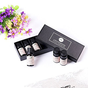 Lagunamoon Aromatherapy Essential Oils Gift Set - 100% Pure Premium Therapeutic Grade Oils kit -Lavender, Tea Tree, Eucalyptus, Lemongrass, Orange, Peppermint