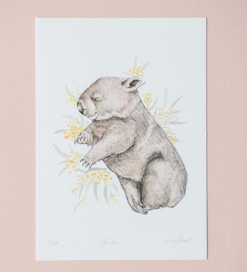 Cute wombat artwork