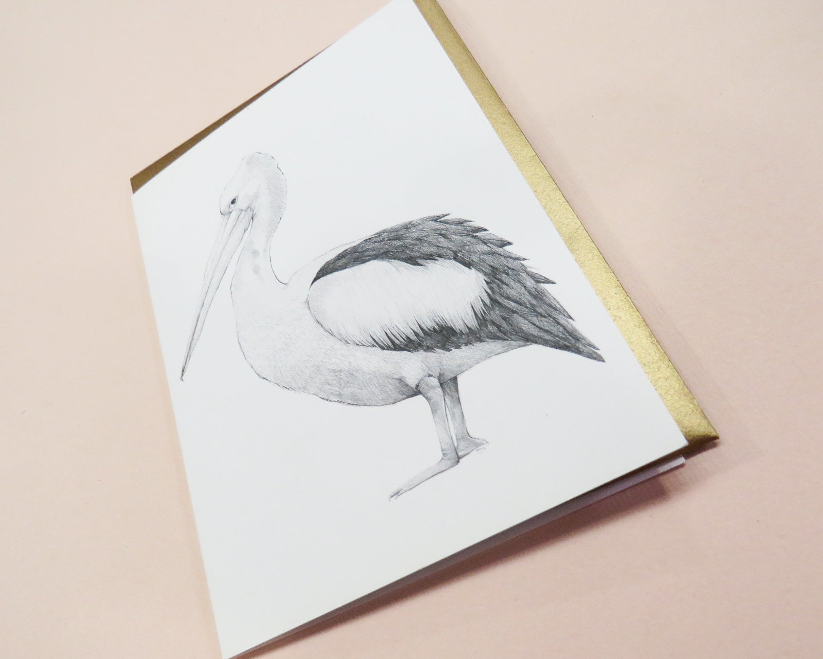 Marina Pelican Greeting Card