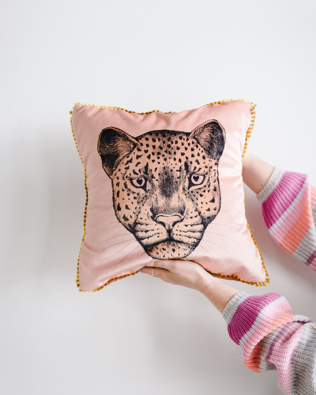 The Grumpy Leopard Cushion