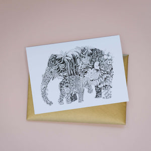 Deep Jungle Greeting Card