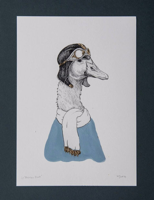 Aviator Duck GOLD ✧ Giclée Print