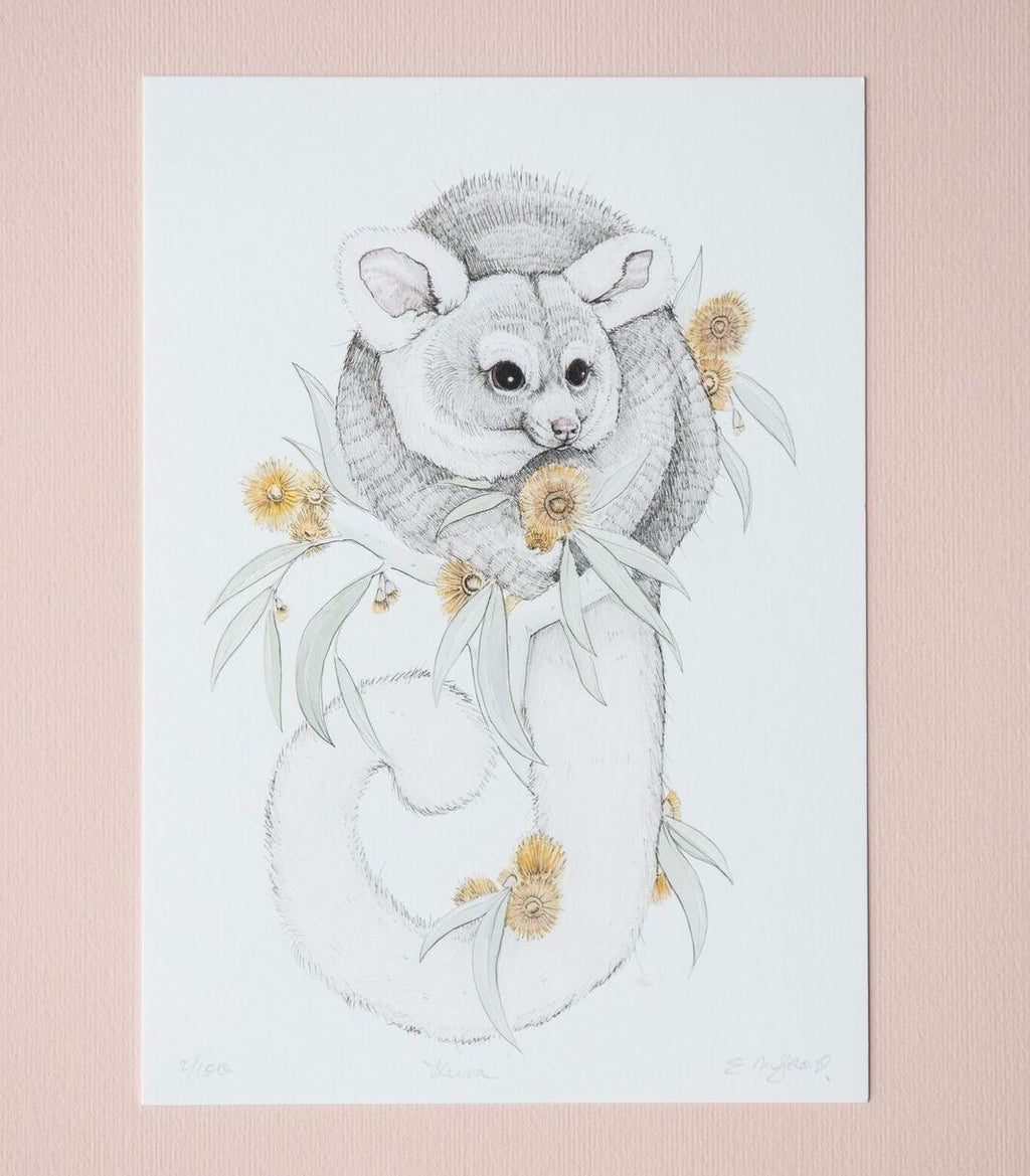 Greater Glider artwork by artist Emma Morgan
