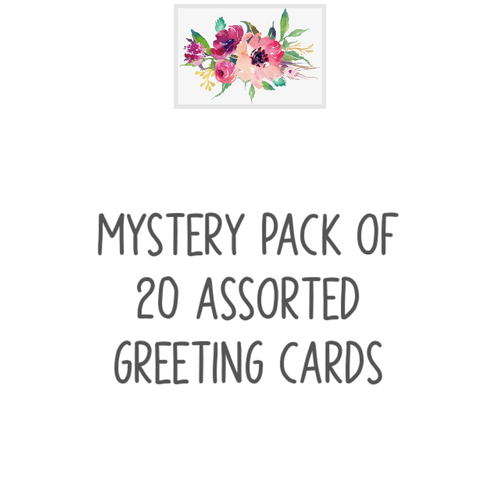 Mystery Pack of 20 Assorted Greeting Cards