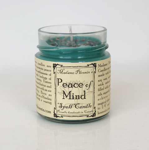Peace of Mind Spell Candle Madame Phoenix Wonderworks