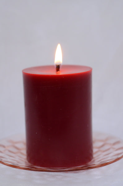 Beeswax Red Pillar Candle Wonderworks BeeGlo
