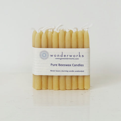 Natural Beeswax Birthday Candles (Pack of 18)