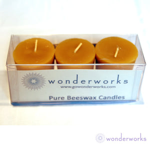 Beeswax Votive Candles 3pack BeeGlo Candles Wonderworks