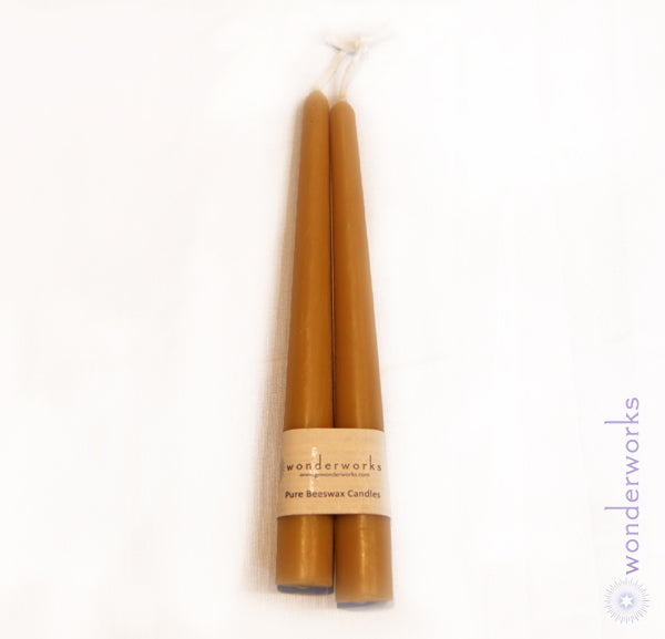 Beeswax Taper Candles BeeGlo Wonderworks
