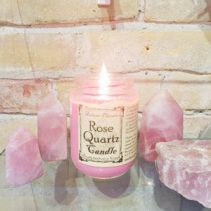 Rose Quartz Spell Candle