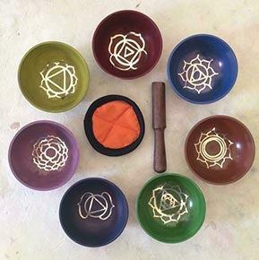 Tibetan Chakra Mixed Metal Singing Bowls
