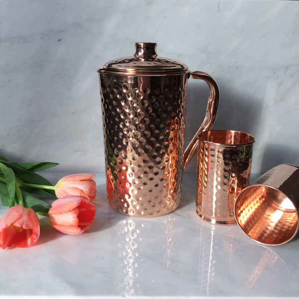 Copper Water Pitcher  1.5L (with lid)