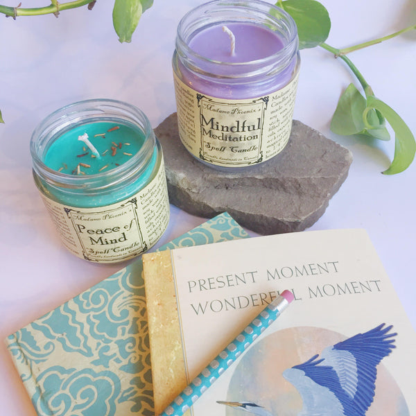 Peace of Mind Candle Mindful Meditation Candle Madame Phoenix Wonderworks