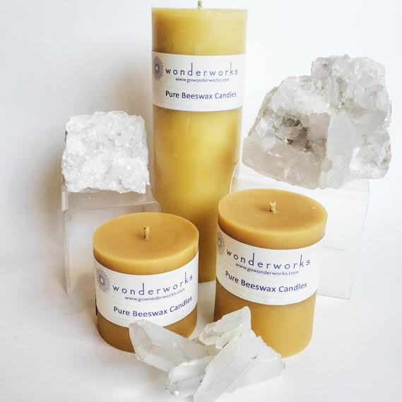 Beeswax Pillar Candles BeeGlo Candles Wonderworks