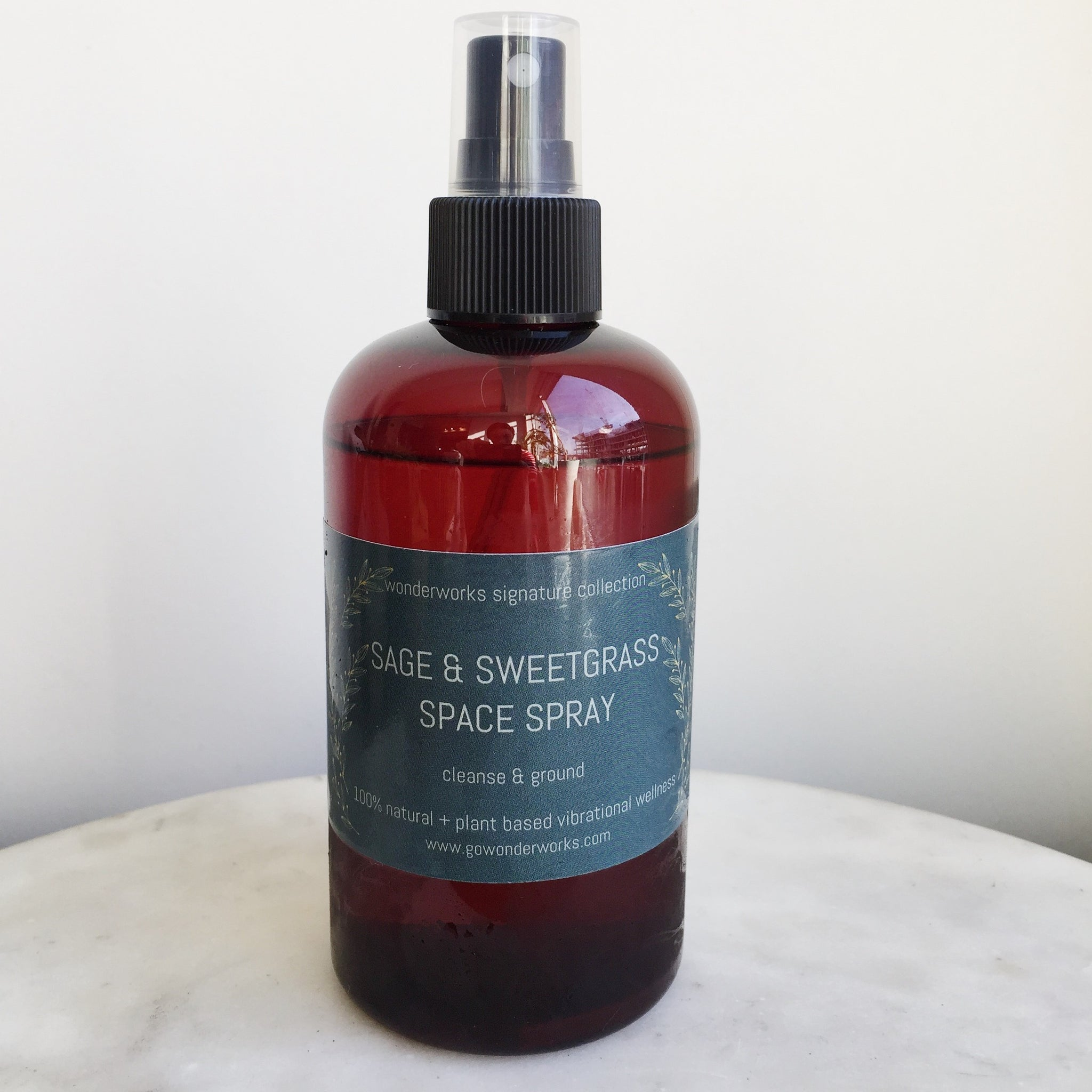 Sage & Sweetgrass Space Spray (240ml amber spray top)