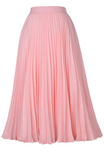 Pleated Swing Skirt - Sophisticated