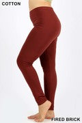 Plus sized cotton leggings