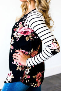 Floral Striped Long Sleeve