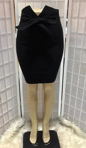 Bow Detail Pencil Skirt
