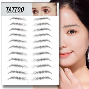 4D Hair-like Eyebrow Tattoo Sticker