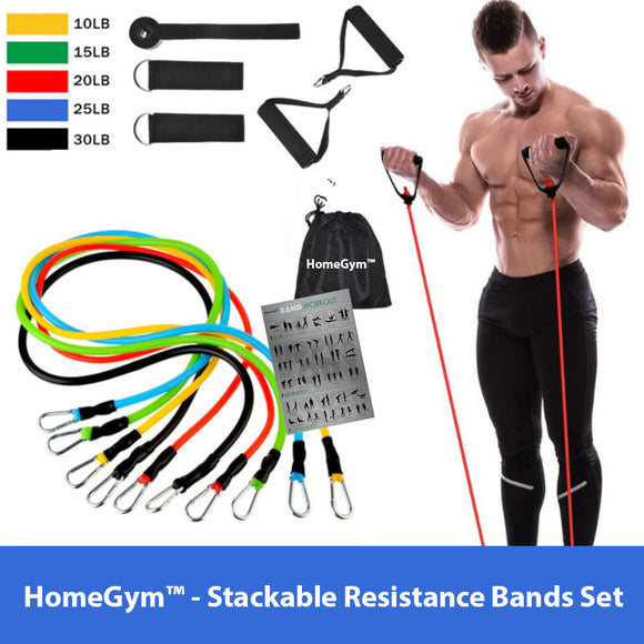 HomeGym™ - Stackable Resistance Bands Set