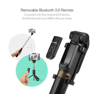 Wireless Bluetooth Selfie Stick Mini Tripod Extendable Selfie Stick Fanatics WareHouse