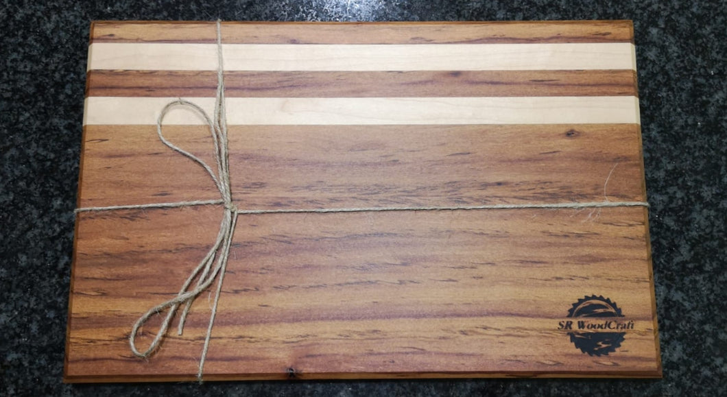 Rhodesian Teak and Maple Cutting Boards
