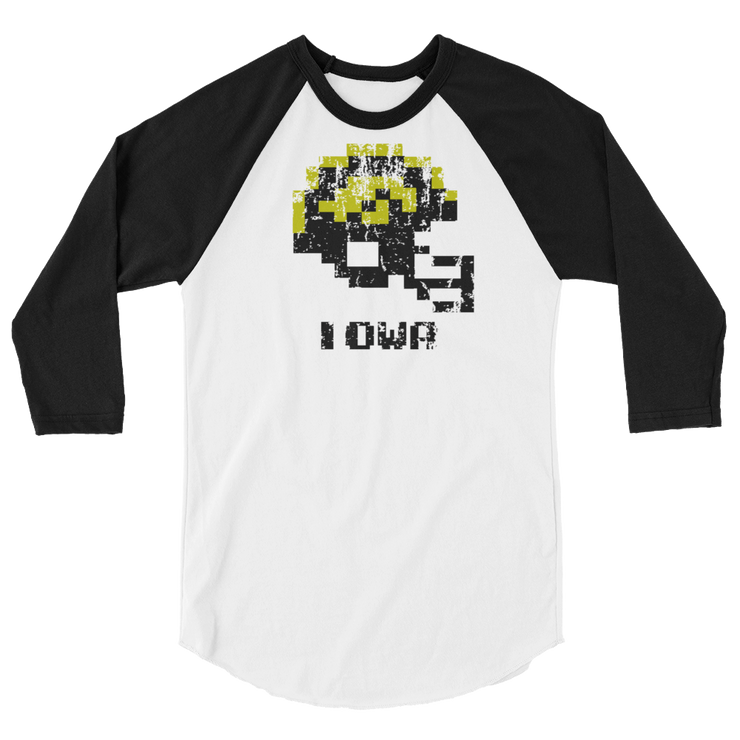 Iowa Hawkeyes | Tecmo Bowl Raglan Shirt