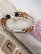 Load image into Gallery viewer, Carnelian Sacral Chakra Expandable Diffuser Bracelet