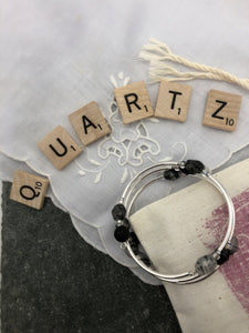 Tourmalinated Quartz Diffuser Expandable Bracelet
