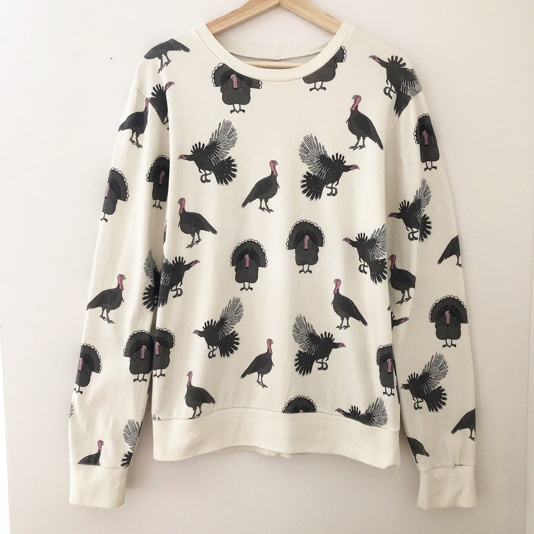 Adult Sweatshirt (Turkey-, Chicken, Cow- or Pig-print)