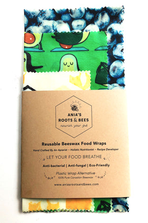 Reusable BEE-ECO Beeswax Food Wraps