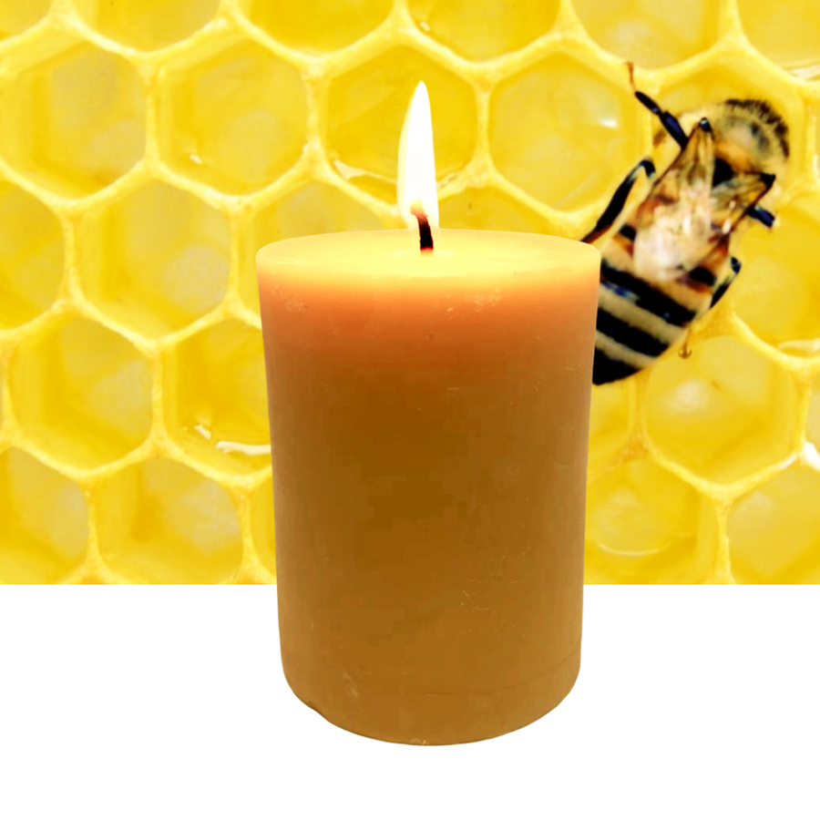 Beeswax Candles Pillar 3x4