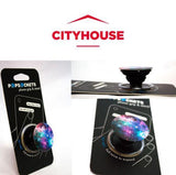 PopSockets Single Phone Grip PopSocket Universal Phone Holder Blue Nebula