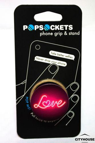 PopSockets Single Phone Grip PopSocket Universal Phone Holder Love Sing