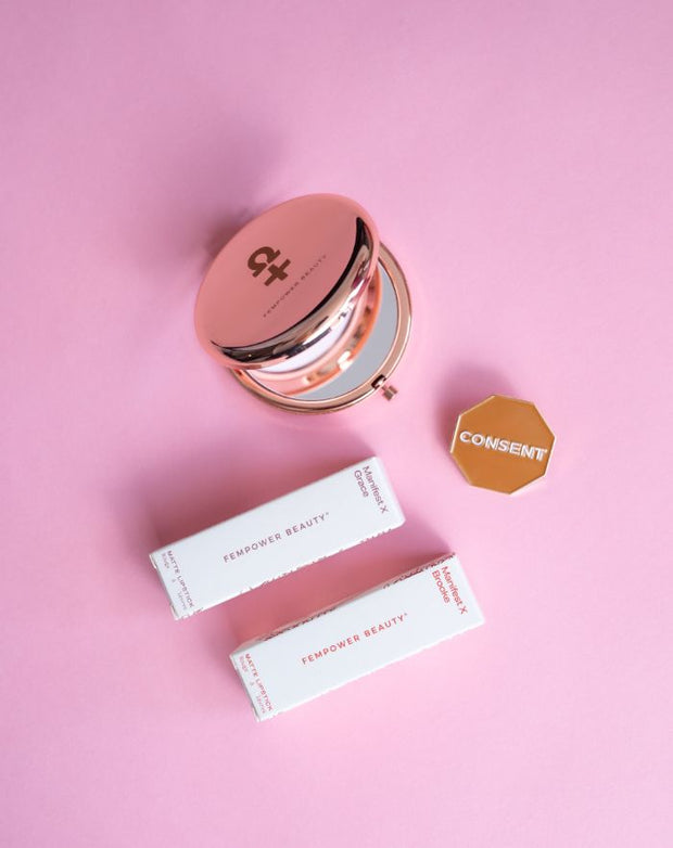 Mother's Day Duo + Mirror + Choice of Pin: The Almost Total Package - Fempower Beauty